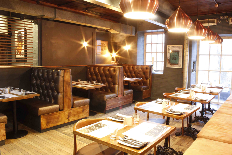 the interior of Ambiente, who are participating in Eat Leeds Restaurant Week